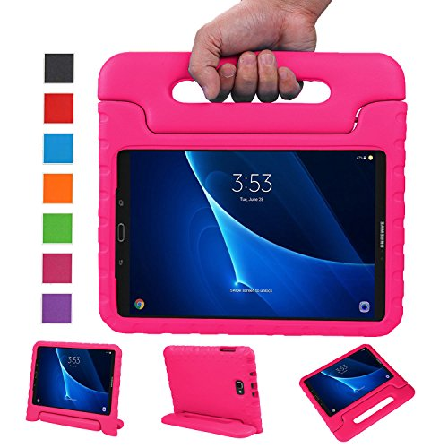 BELLESTYLE Samsung Galaxy Tab A 10.1 Funda- Protector de peso ligero a prueba de golpes Estuche para niños para Samsung Galaxy Tab A 10.1 pulgadas (SM-T580 / SM-T585) Tablet 2017 Release(Rosa)