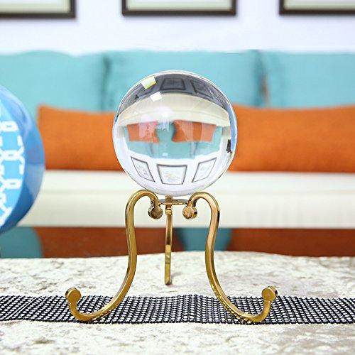 Baijoery Crystal Ball Dekoration Büro Tv-Schrank Regal Dekorationen, Dreieck Crystal Ball Ornamente Eine Kurze Rebe