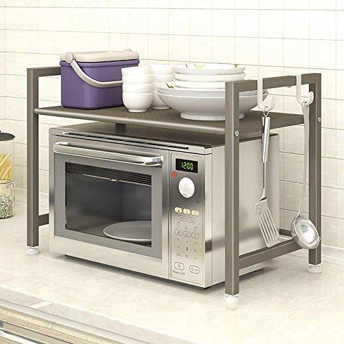 Étagère dans le salon Chambre Cuisine Étagère de cuisine Boulangerie étagère de rangement à micro-ondes étagère double étagère Rack de décoration YYJRR-Étagères d'angle ( Couleur : 1* )