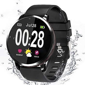 Smartwatch, Reloj Inteligente Hombre Mujer Smartwatch Deporte Monitores de Actividad Fitness Tracker con Cronómetro/Monitor de Ritmo Cardíaco/Sueño ...