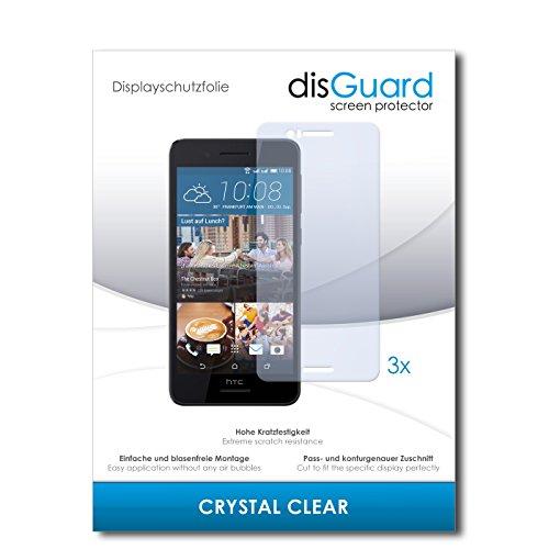 disGuard® Bildschirmschutzfolie [Crystal Clear] kompatibel mit HTC Desire 728G Dual Sim [3 Stück] Kristallklar, Transparent, Unsichtbar, Extrem Kratzfest, Anti-Fingerabdruck - Panzerglas Folie, Schutzfolie