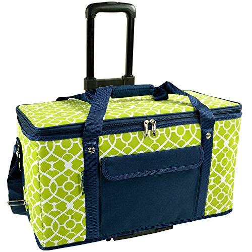 Picnic at Ascot groß 36-quart zusammenklappbar Kühltasche mit Rädern-hält 32Dosen mit Eis kalt für bis zu 24Stunden-Spalier grün