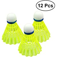 MagiDeal 12er Set bunte Badminton Shuttlecocks Federb/älle Indoor Outdoor Sport Training Spiel Kunststoff