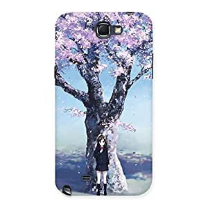 Enticing Cherry Blossom Girl Back Case Cover for Galaxy Note 2