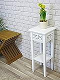 Romantic Telefontisch / Beistelltisch / Anrichte weiß, Landhausstil, mit Shabby-Chic-Look