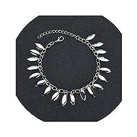 XFkbeA Bohemian Beads Ankle Bracelet for Women Leg Chain Round Tassel Anklet Vintage Foot Jewelry Accessories,B203