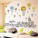 XPY-wall sticker Wandtattoos wandaufkleber Wandbilder Tapeten Wandsticker-Großer Fernsehsofa-Stadtgebäude-Produktballon, 60 * 90CM