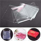 RanDal 100Pcs A4 Trasparente Cellophane Display Borse Autoadesiva Guarnizione Anello Di Plastica Opp