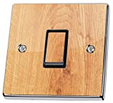 Lichtschalter-Aufkleber / Abdeckung, Holz-Effekt, Vinyl