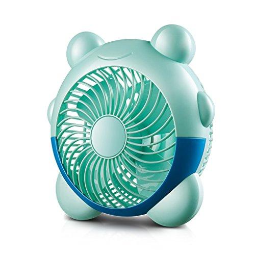Cartoon-Fan-Desktop-Desktop USB-Mute-Studenten-Schlafsaal Büro kleine elektrische Lüfter ( Farbe : Blau )