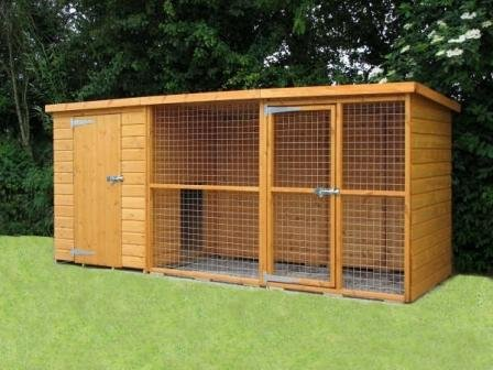 8FT X 4FT SUSSEX DOG KENNEL AND RUN