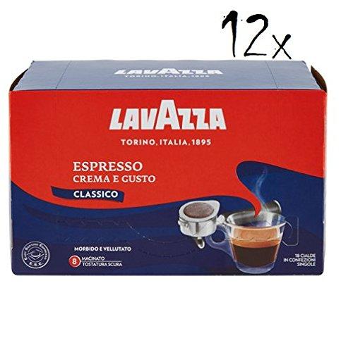 12x 18 Kaffeepads Lavazza Espresso Crema E Gusto Kaffee Coffee ese Kaffee (216)Pads