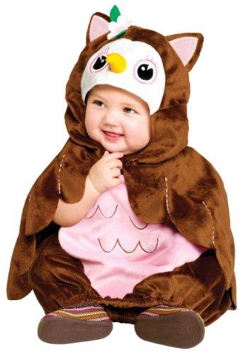 Koala Kids Deluxe Eule Mädchen Halloween Fasching Karneval Kostüm wattierter Overall mit Umhang (Baby Kostüm Koala)