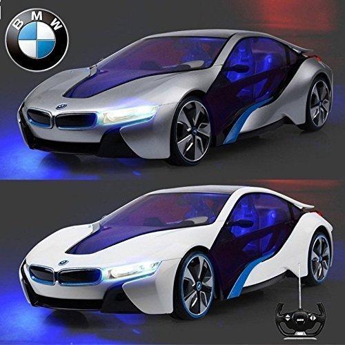 Offiziell Lizenziert CM-2193 1:14 BMW i8 Vision Effizienz Dynamik Ferngesteuert RC Elektrisch Concept Auto Mit Innenlampen und Scheinwerfer - Bereit Zum Rennen EP RTR (Silbern / weiß) - Weiß