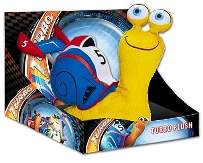 Caracol de peluche en caja expositora (25 cm), color azul - Joy Toy 339953 Turbo