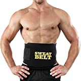 Healthex Nylon Polyester Rapid Sweat Waist Trimmer, Slimming,Sweat Belt, Fat Burner, Free Size (SW02, Black)