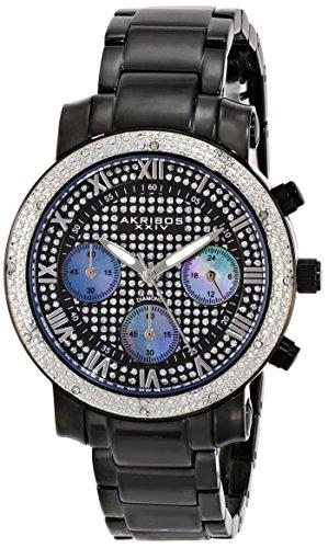 Akribos XXIV Femme Grandiose affichage analogique à quartz japonais montre noir