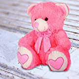 Efinito Teddy Bear Plush Stuffed Soft Toys Love Animals Birthday Gifts For Kids Valentine Home Party Decor Valentine 38CM (Pink)