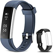 Rayfit Pulsera Actividad Reloj Inteligente Fitness Tracker Podómetro Monitor de Sueño Contador de Calorías Pas