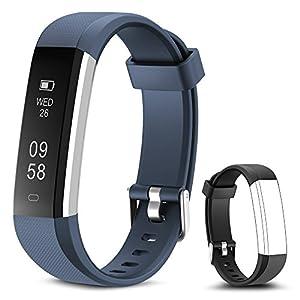 Rayfit Pulsera Actividad Reloj Inteligente Fitness Tracker Podómetro Monitor de Sueño Contador de Calorías Pasos Rastreador de Ejercicios Reloj Salud Pulsera Deportiva para Niños Mujeres Hombres 1