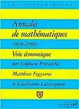 Annales de mathématiques 1998-1999 : Voie économique