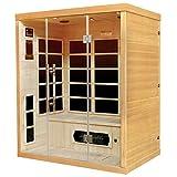 Artsauna Infrarotkabine/Wärmekabine Skagen 160 mit Flächenstrahlern & Hemlockholz | Infrarotsauna mit Glasfront für 3 Personen - 2