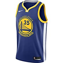Nike NBA Golden State Warriors Kevin Durant 35 KD GSW 2017 2018 Icon Edition Jersey Oficial Away, Camiseta de Hombre