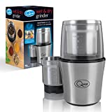 Quest 34170 Compact Stainless Steel Electric Wet and Dry One Touch Grinder, 80g, 200W, 20 x 12 x 12cm, 200 W