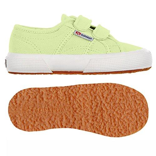 Superga 2750 Jvel Classic, Sneakers Basses mixte enfant GREEN SUNNY LIME
