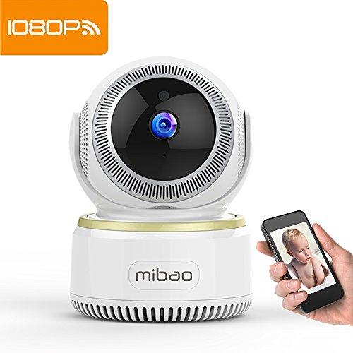 Mibao WLAN IP Kamera 1080P Wifi IP Camera Überwachungskamera mit Bewegungserkennung Nachtsicht 2 Wege Audio Smart Schwenkbar Home Kamera Baby Monitor unterstützt Fernalarm und Mobile App Kontrolle