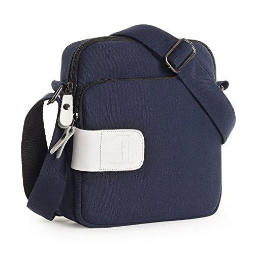 Sincere® Toile sac à bandoulière / sac Messenger Loisirs / extérieur sac de sport / paquet bleu Student Sac à dos / personnalisé