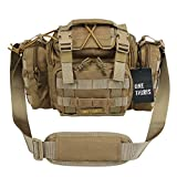 OneTigris Tactical Deployment Bag with Shoulder and Waist Strap (Coyote Brown)