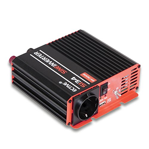 ECTIVE 300W 12V auf 230V Reiner Sinus Wechselrichter SI-Serie Power-Inverter in 7 Varianten: 300W - 3000W