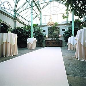 Weißer Teppich - Hochzeitsteppich - VIP Teppich - Eventteppich (4,50EUR/m²) - 2,00m breit