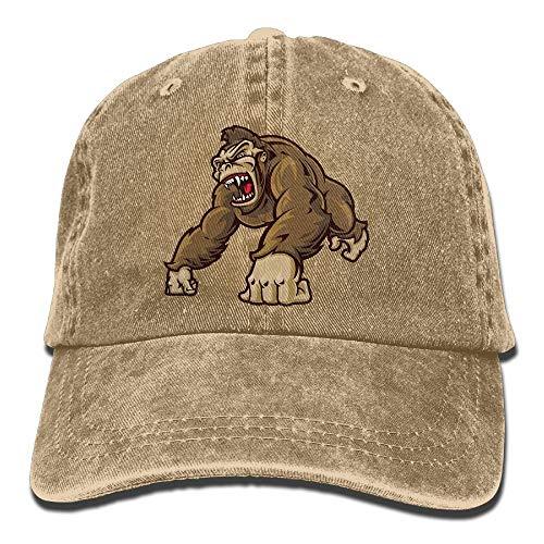 b101eafd573 Gorilla Funny Men Fashion Dad Hats Cotton Denim Adjustable Baseball Caps