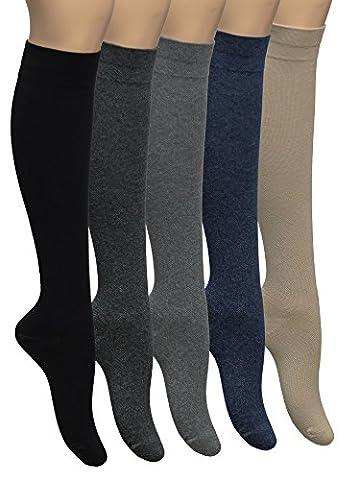 Vitasox 44456 Chaussettes de contention chaussettes de voyage en coton unisexe chaussettes de compression 2 paires beiges 39/42