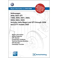 Volkswagen Jetta, Golf, GTI 1999, 2000, 2001, 2002, 2003, 2004, 2005: Repair Manual on DVD-ROM: Includes Jetta Wagon and GTI Through 2006 and City Mod