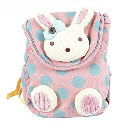 Labebe Rucksack Kinder, Schultasche Pink Hase für Kleinkinder von 1 Jahrige und Mehr, Kinderrucksack Pink mit Sicherheitsleinen, Lassing...