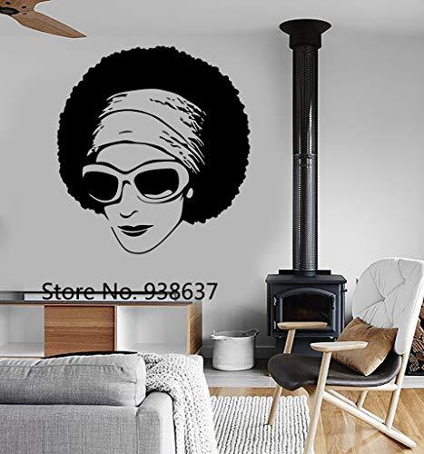 Schlafzimmer Wandtattoos Afrikanische Schönheit Schwarz Mädchen Sonnenbrille Dekor Moderne Wandkunst Wand Wohnzimmer Aufkleber Für Salon Z 42x47 cm