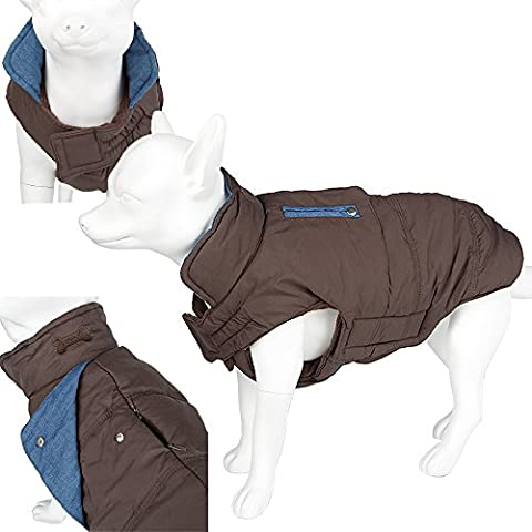 Luxury Warm Padded Pet Dog Outdoor Waterproof Coat/Jacket (Blue (L)
