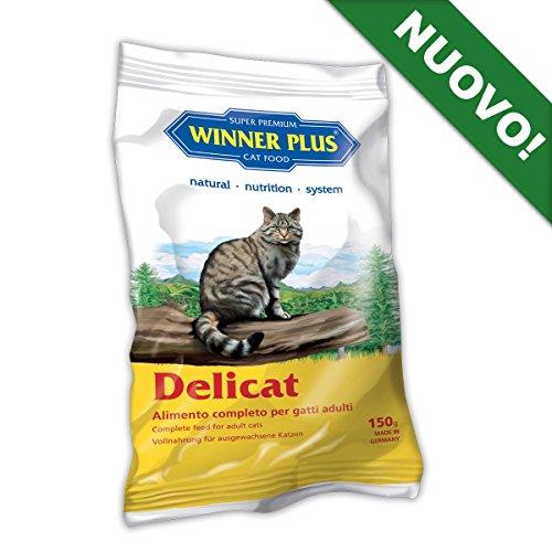 WINNER PLUS Delicat 150 g - Alimento naturale, completo e senza glutine per gatti adulti di tutte le razze
