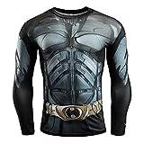 Superhero Compression T Shirt Maniche Lunghe Tops Cosplay Tee for Man Magliette Stampate 3D T-Shirt da Uomo