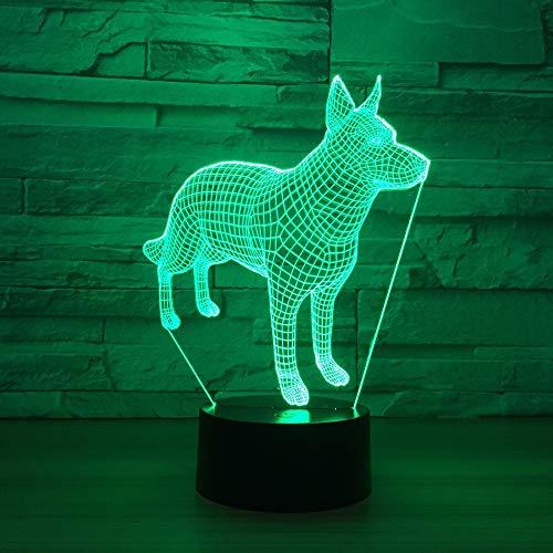 XIONGXI Nachttischlampe Tischlampe3DLampe niedlich7FarbumwandlungLedNachtlicht Weihnachtsschmuck für Babyzimmer Lichter