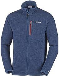 Columbia Altitude Aspect Full Zip - Forro para hombre, color azul, talla M