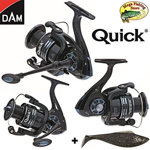 Dam Quick Fighter Pro Metal Spinrolle - Spin Rolle/Angelrolle - 2000 bis 6000 (2000er / 320 FD - 240m > 0,20mm)