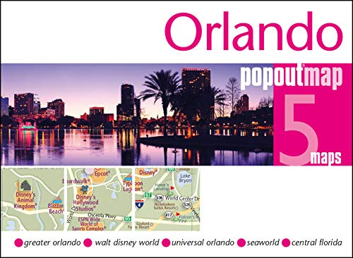 PopOut Map Orlando Double: Handy pocket size pop up map of Orlando and Walt Disney World Resort (Popout Maps)