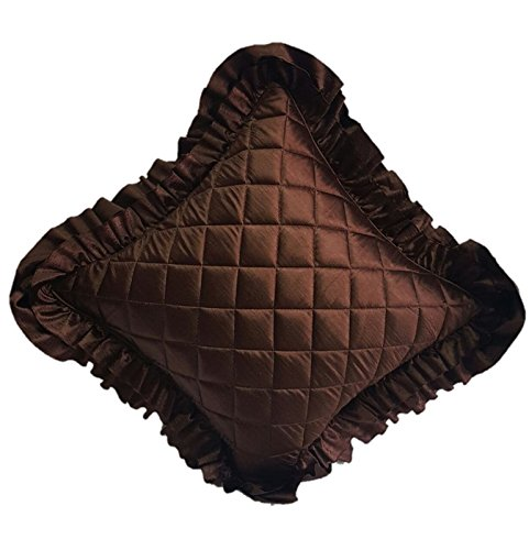 Sonakshi Coffee foam Quilted cushion Cover-20x20(51cmx51cm) -Coffee
