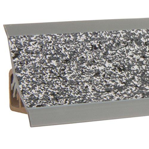 HOLZBRINK Küchenabschlussleiste Granit dunkel Küchenleiste PVC Wandabschlussleiste Arbeitsplatten...