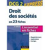 Droit des sociétés - DCG 2 - 2ème édition : en 23 fiches (Express DCG)