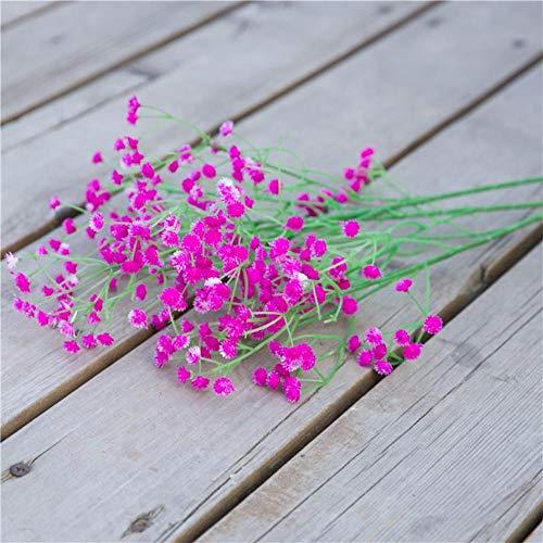 Wuyanes 1pcs grandi fiori artificiali gypsophila bianco fiori finti per la decorazione della festa nuziale a casa